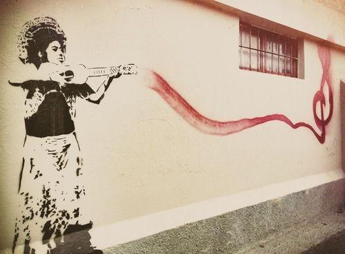 My favorite kind of weapon. Artwork by Yescka, located in Oaxaca de Juarez, Mexico.