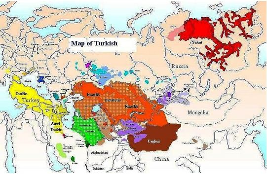 Map Of Turkic Languages