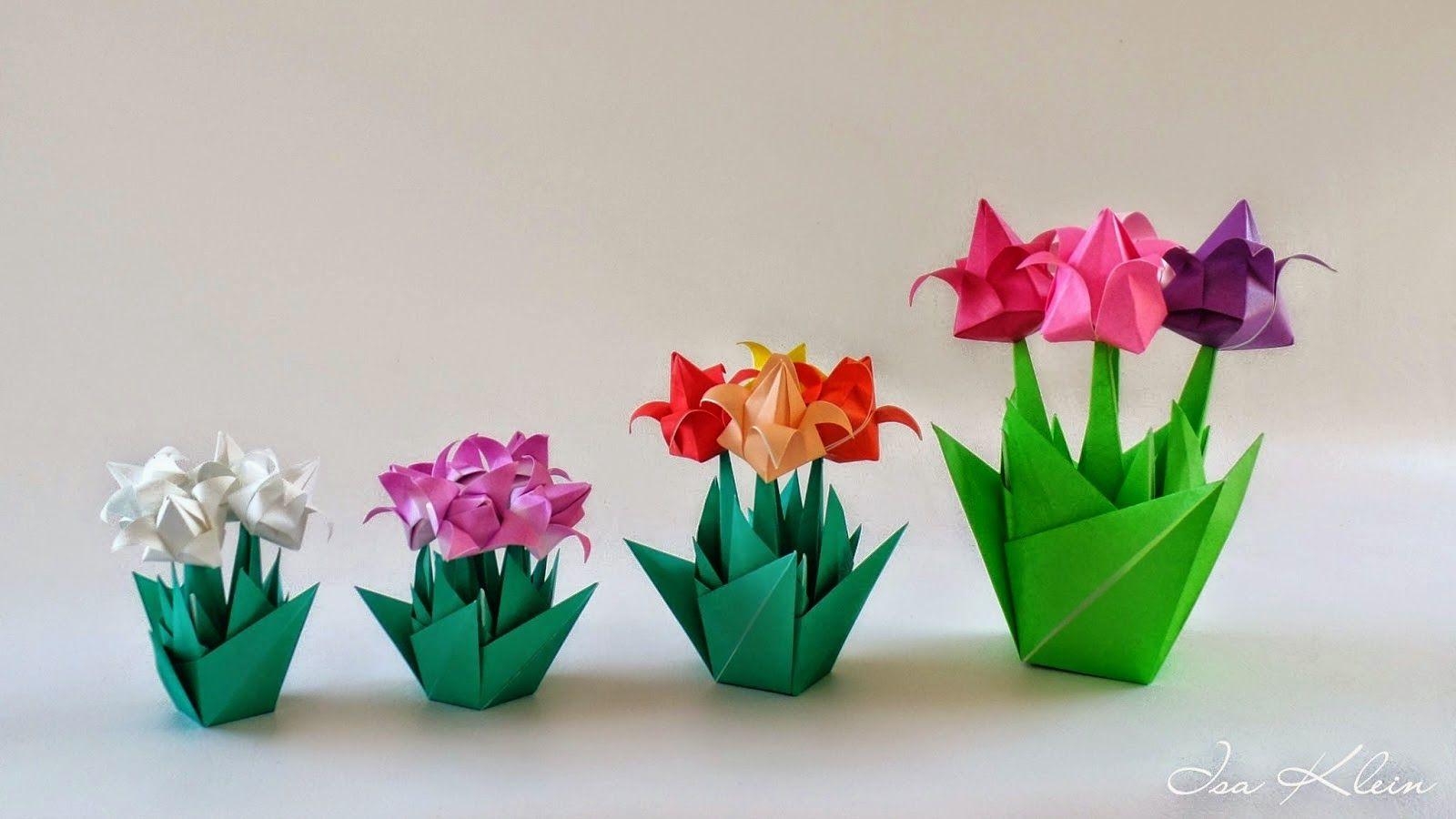 Origami Maniacs Origami Tulip By Isa Klein Origami Pinterest