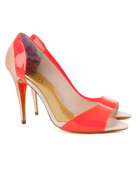 2021a48feb8 Ted Baker  Colour block heel - Bright Pink