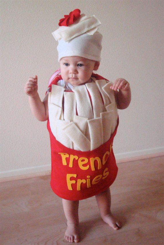 For my little french fry...and thereu0027s an adult ketchup costume to go with!  sc 1 st  Pinterest & Reserved for stephcrane... French Fry Baby or Toddler Costume ...