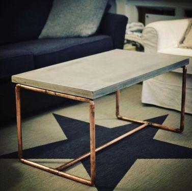 Beton Couch Tisch Kupfer Design Vintage Tisch In Berlin Neukolln