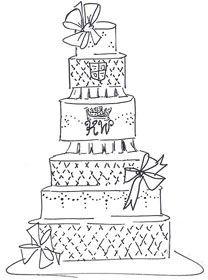 Fantasy Royal Wedding Cake Sketches » Pink Cake Box
