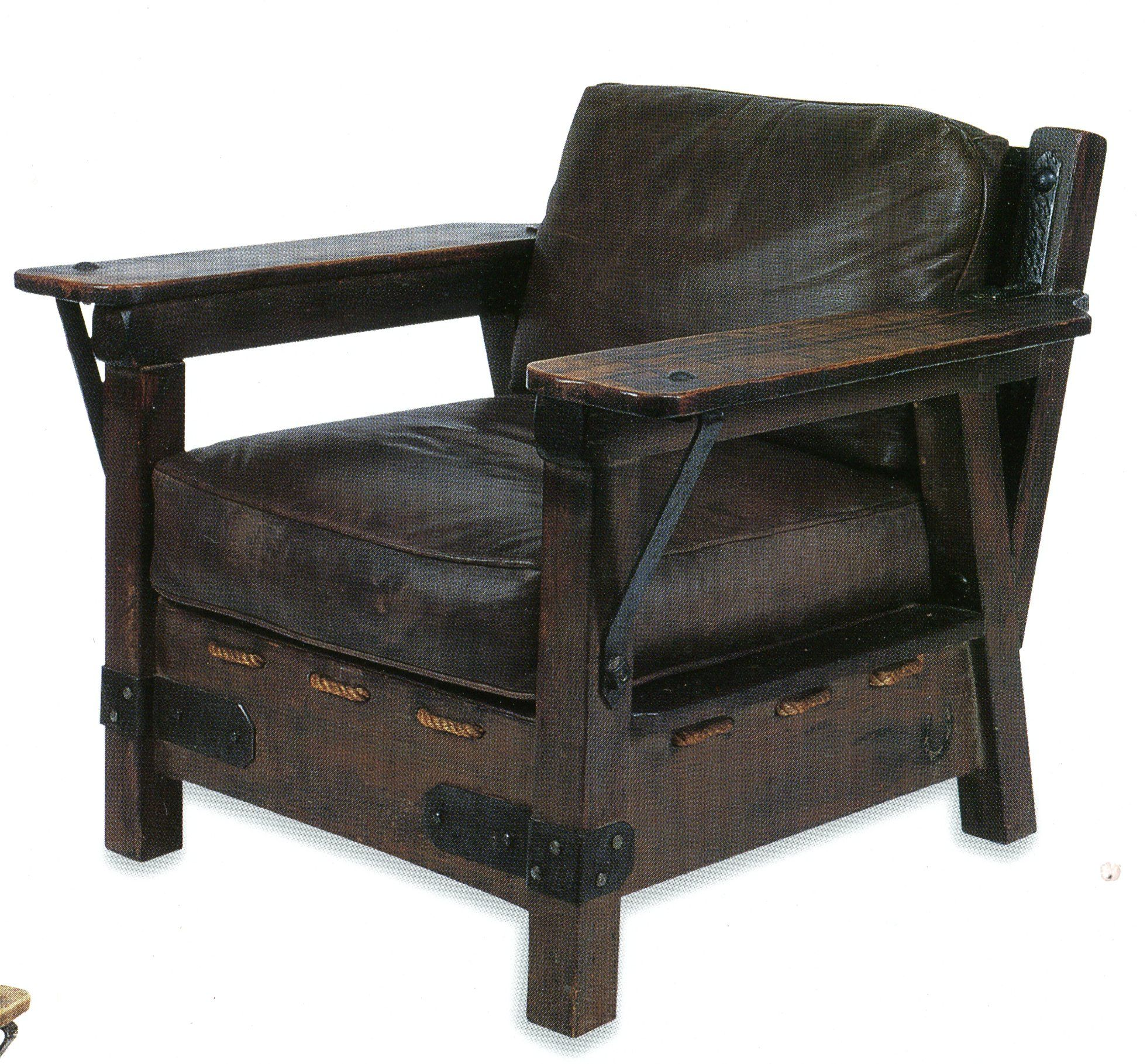 "Monterey"" style club chair a cross between Craftsman and"