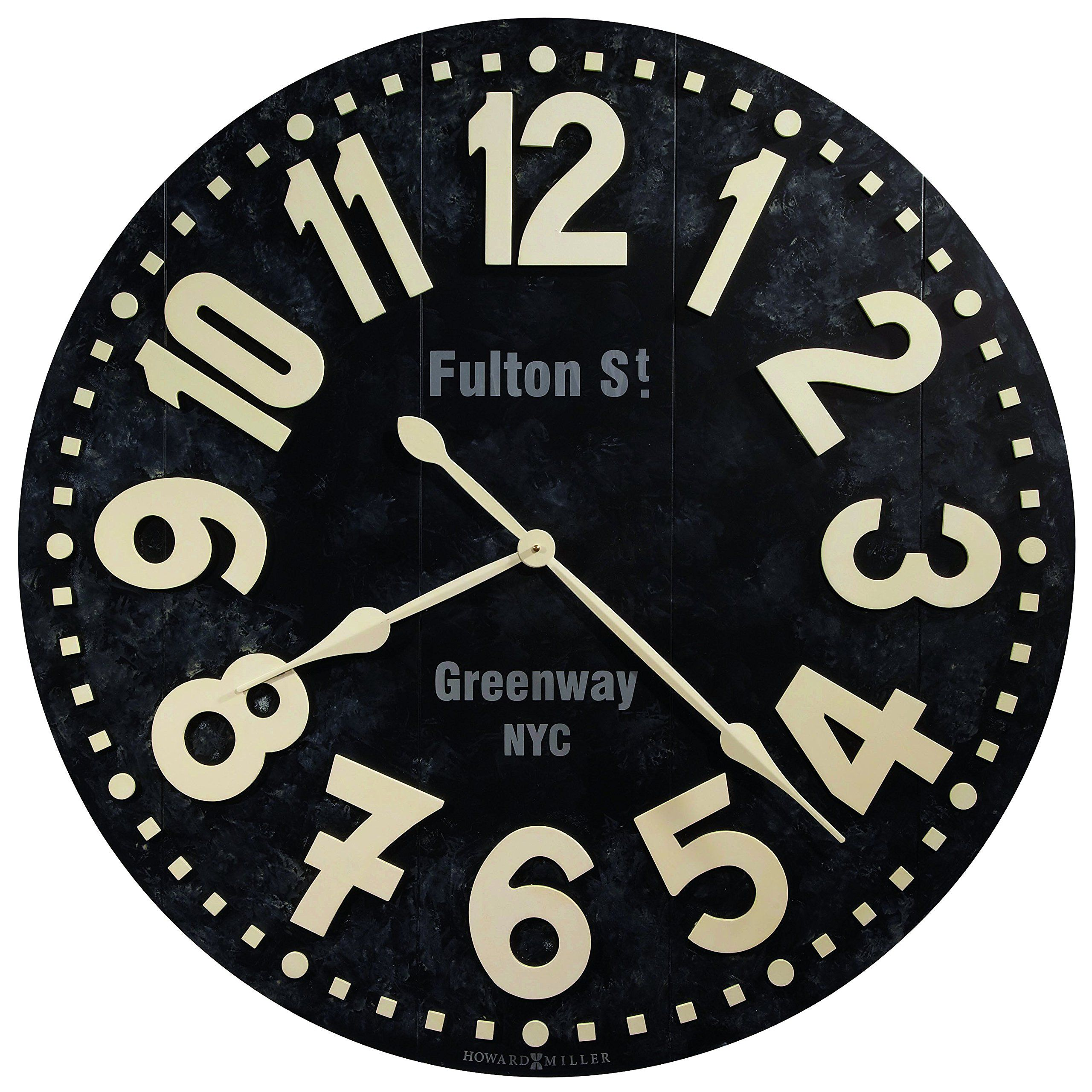 Robot Check Oversized Wall Clock Black Wall Clock Large Wall Clock