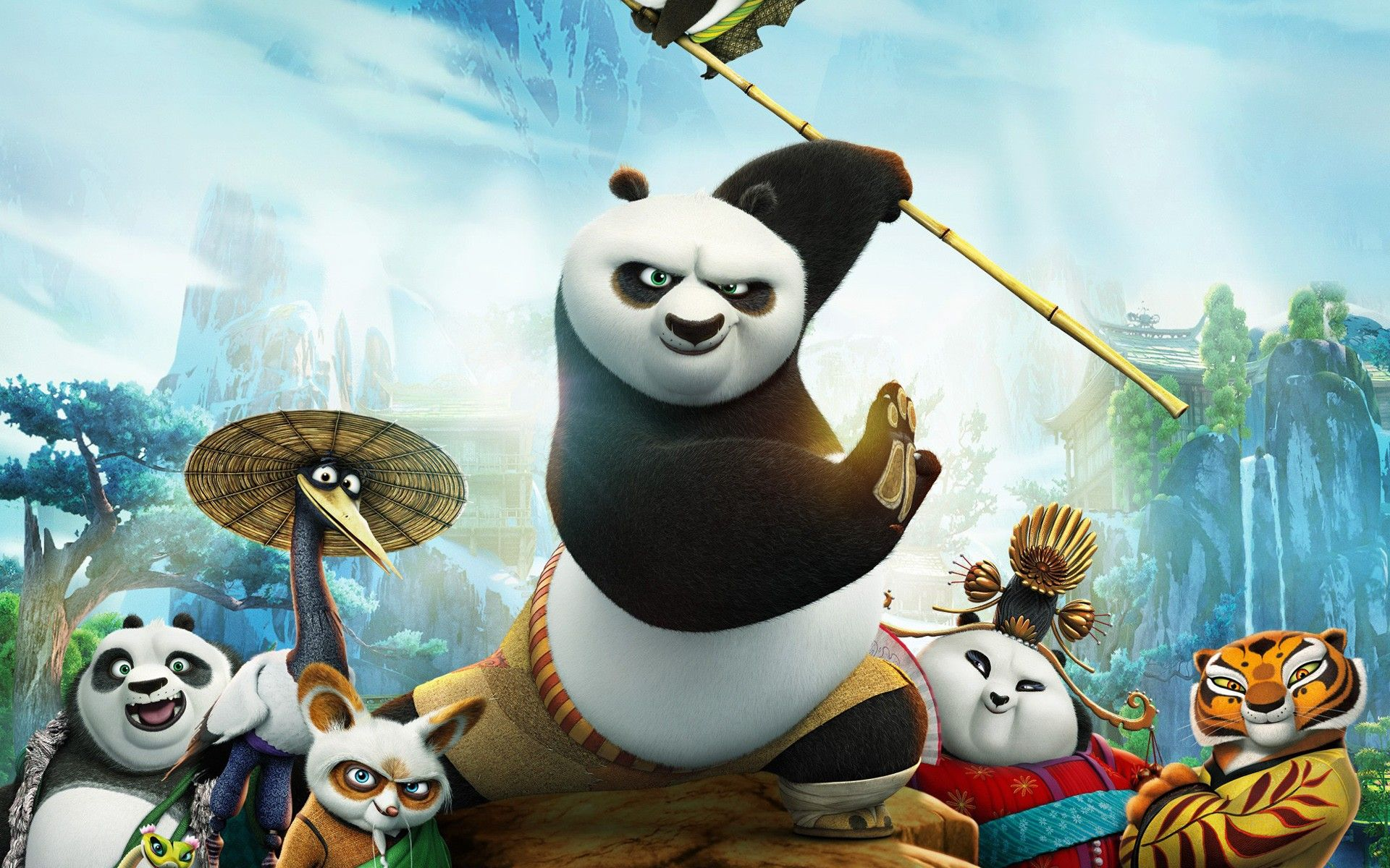 po and pandas from kung fu panda desktop wallpaper | hd wallpapers