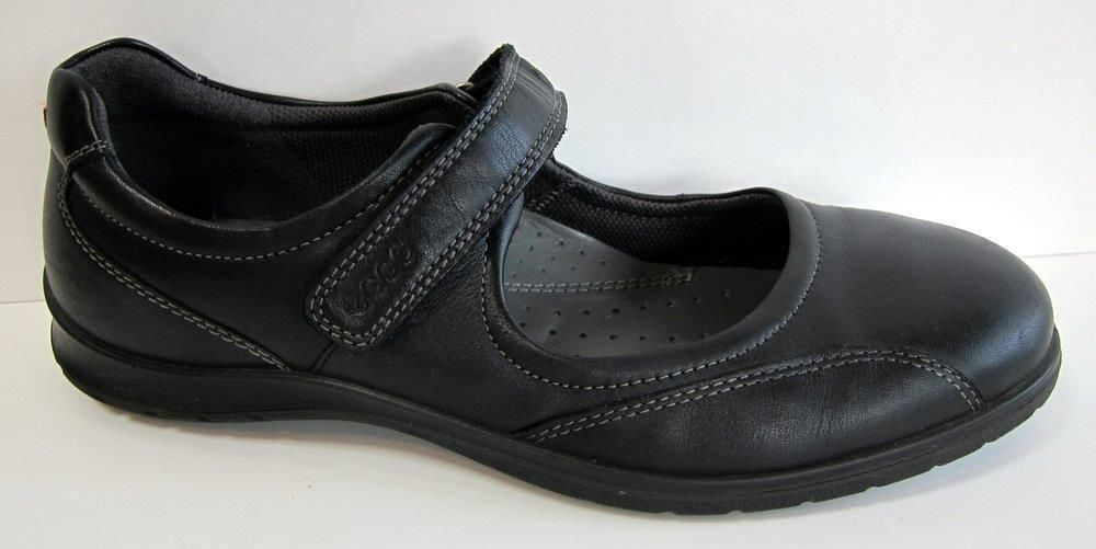 ECCO 'Sky' Black Leather Mary Jane Size 39/US 8-8.5 #ECCO #MaryJanes