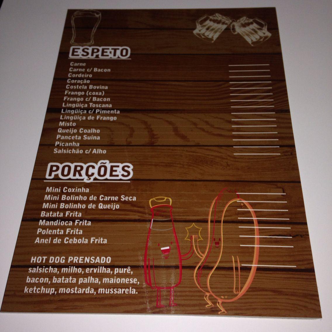 Cardápio para restaurantes em ps com adesivo impressão digital
