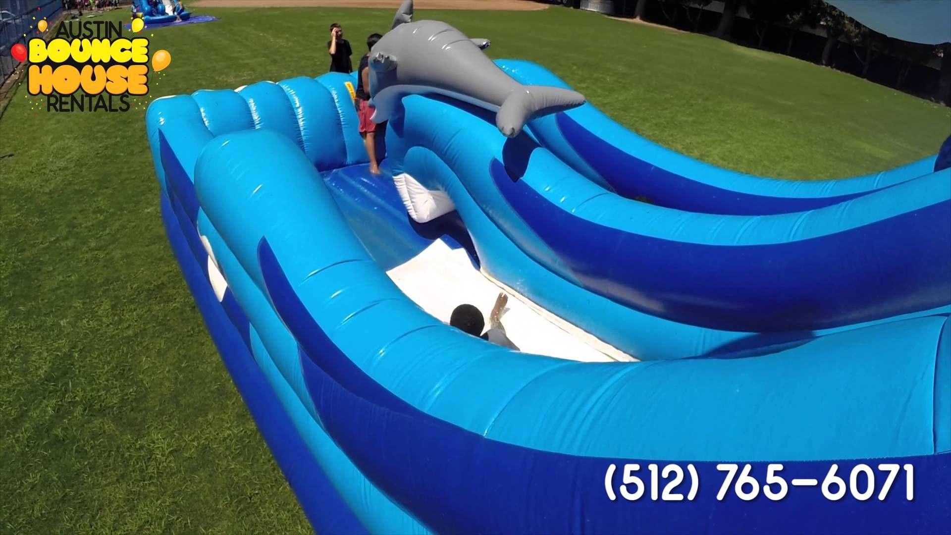 Austin bounce house rentals dolphin splash water slide
