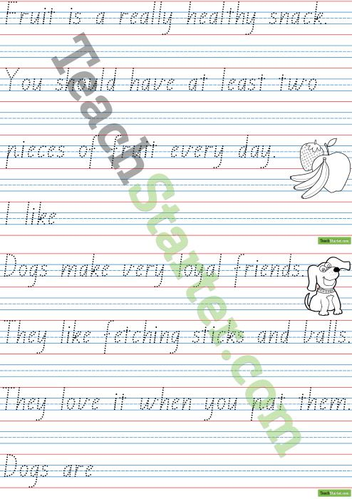 handwriting sheets theme pages 1 kid stuff handwriting sheets teaching handwriting print. Black Bedroom Furniture Sets. Home Design Ideas