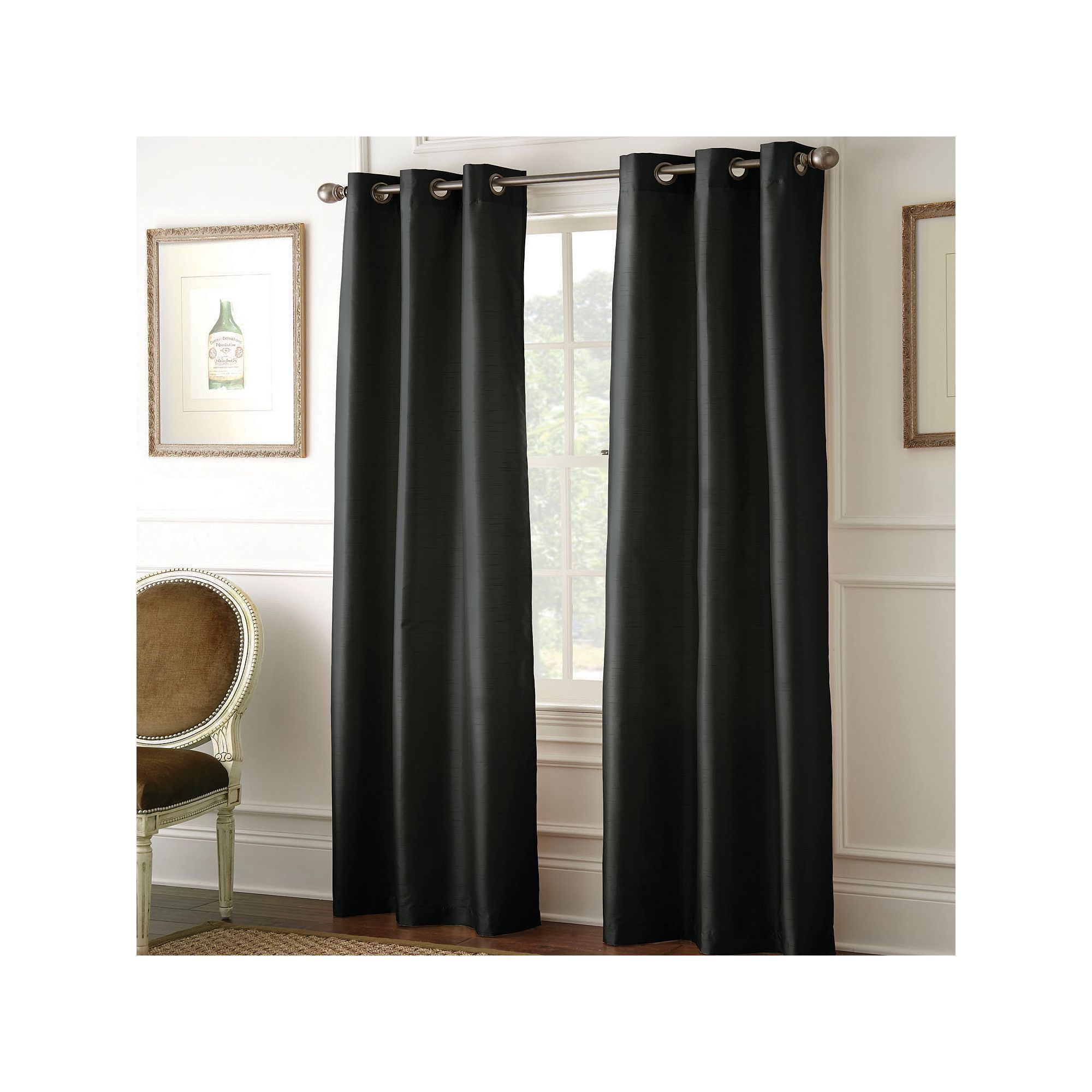 Pacific Coast Textiles 2 Pack Shawn Blackout Curtains 37 X 84