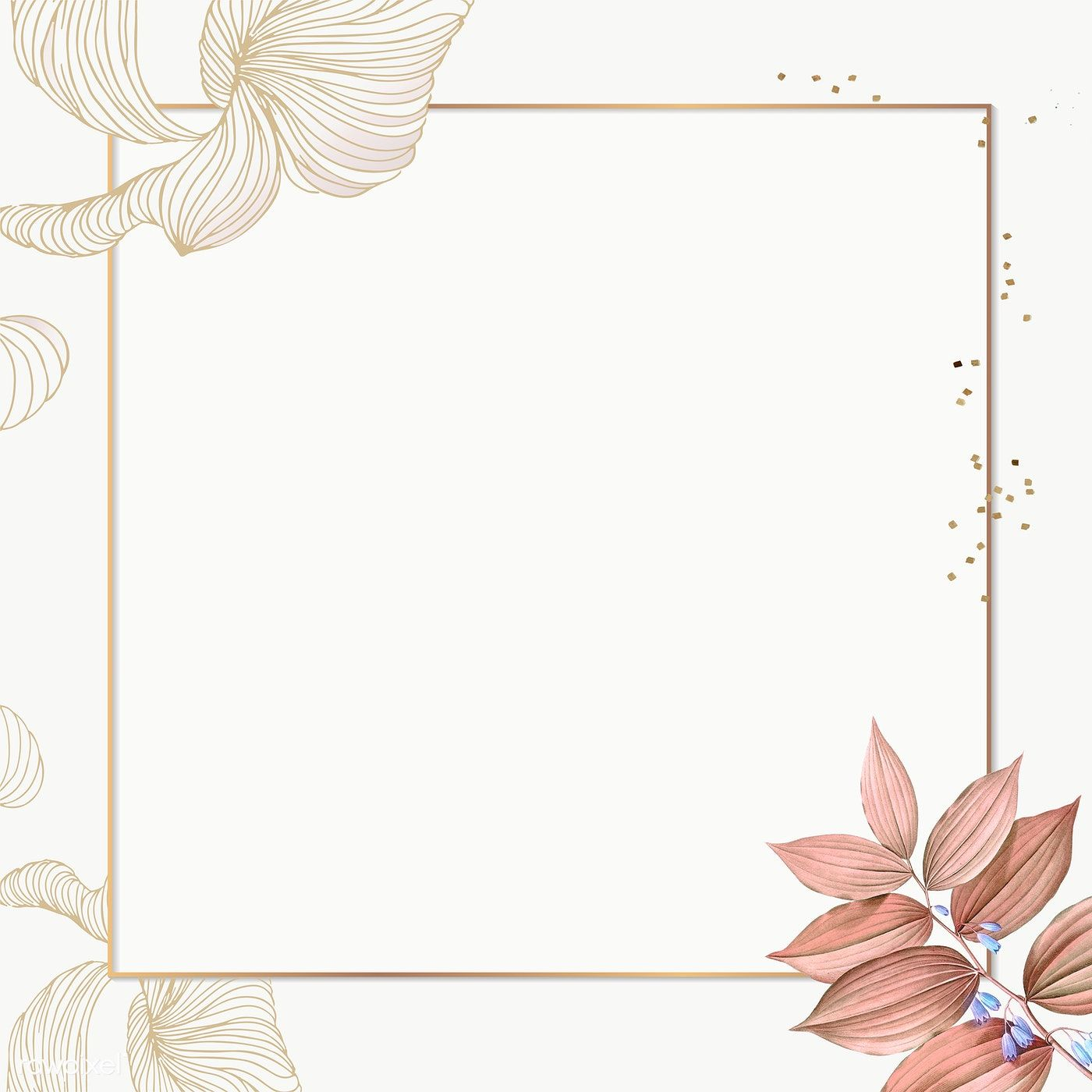 Download Premium Png Of Golden Floral Square Frame Transparent Png 2027193 Floral Squares Square Frames Pink Abstract