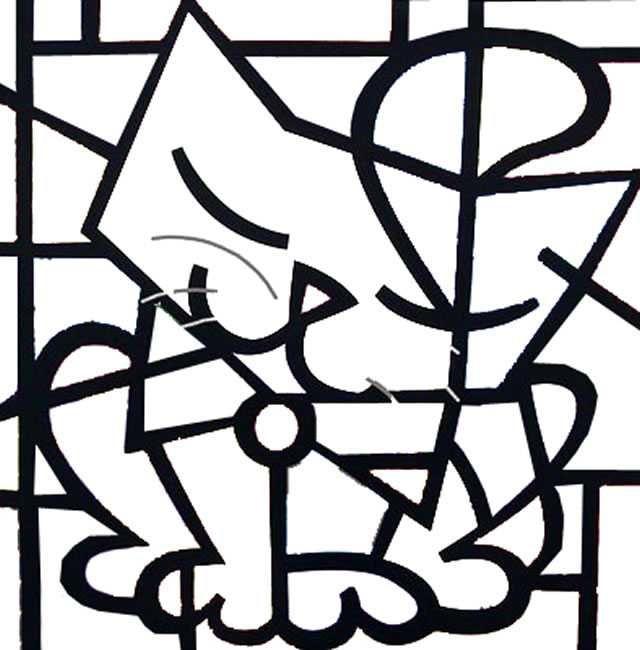 Obras De Romero Britto Para Colorir Boyama Sayfaları Sanat Pop Soyut Boyama Sayfaları