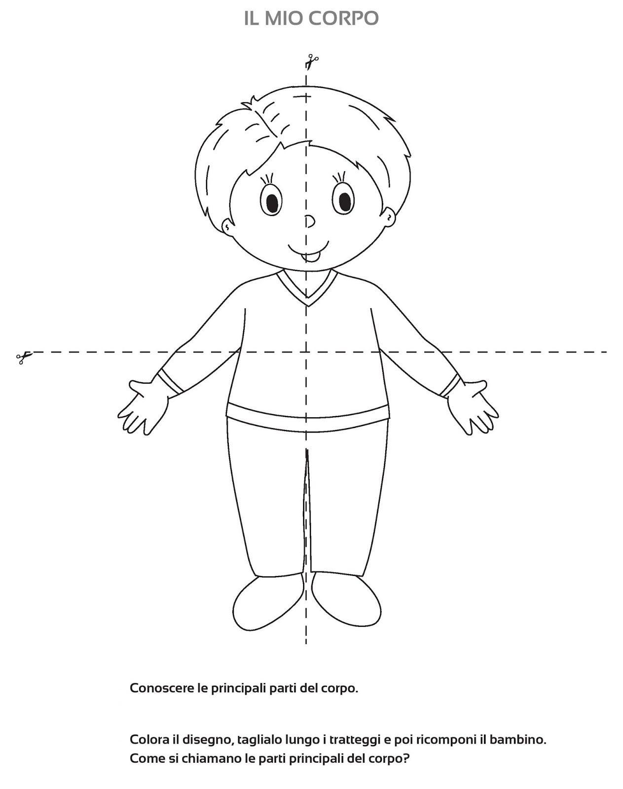 schede didattiche schema corporeo maestra mary schede
