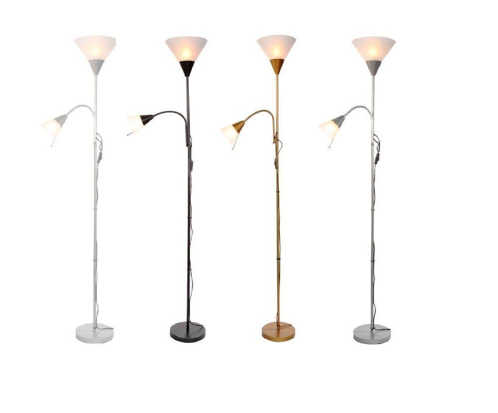 Floor lamps/mother and child floor lamp uplight 180cm/black/white ...