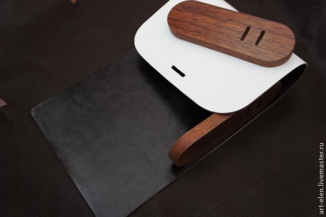 """Мастер-класс: сумка из дерева и кожи """"Белый шоколад"""" - Ярмарка Мастеров - ручная работа, handmade"""