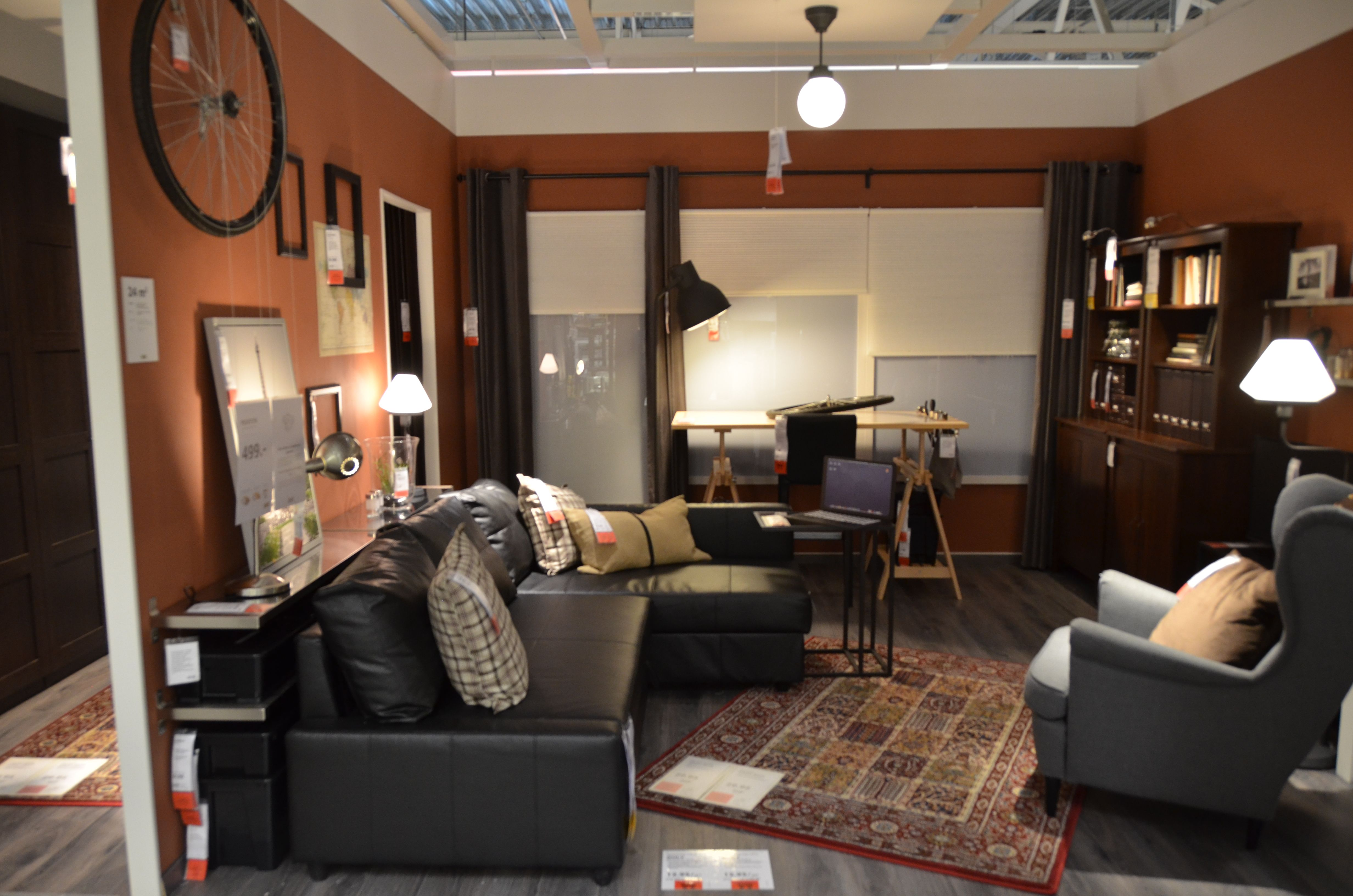 Living Room Corner Chairs: FRIHETEN Corner Sofa Bed Black