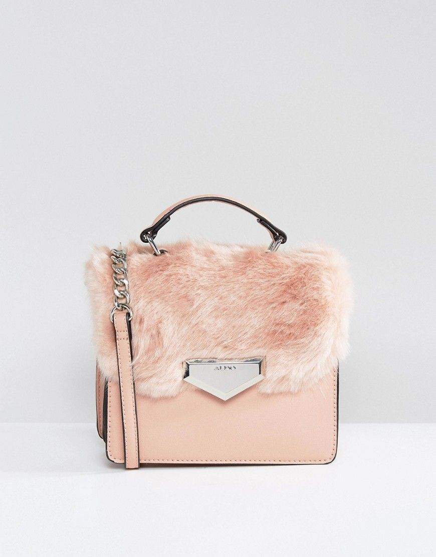 56a9f1dfdcd ALDO Moraine Faux Fur Cross Body Bag - Pink | Shop the look products ...