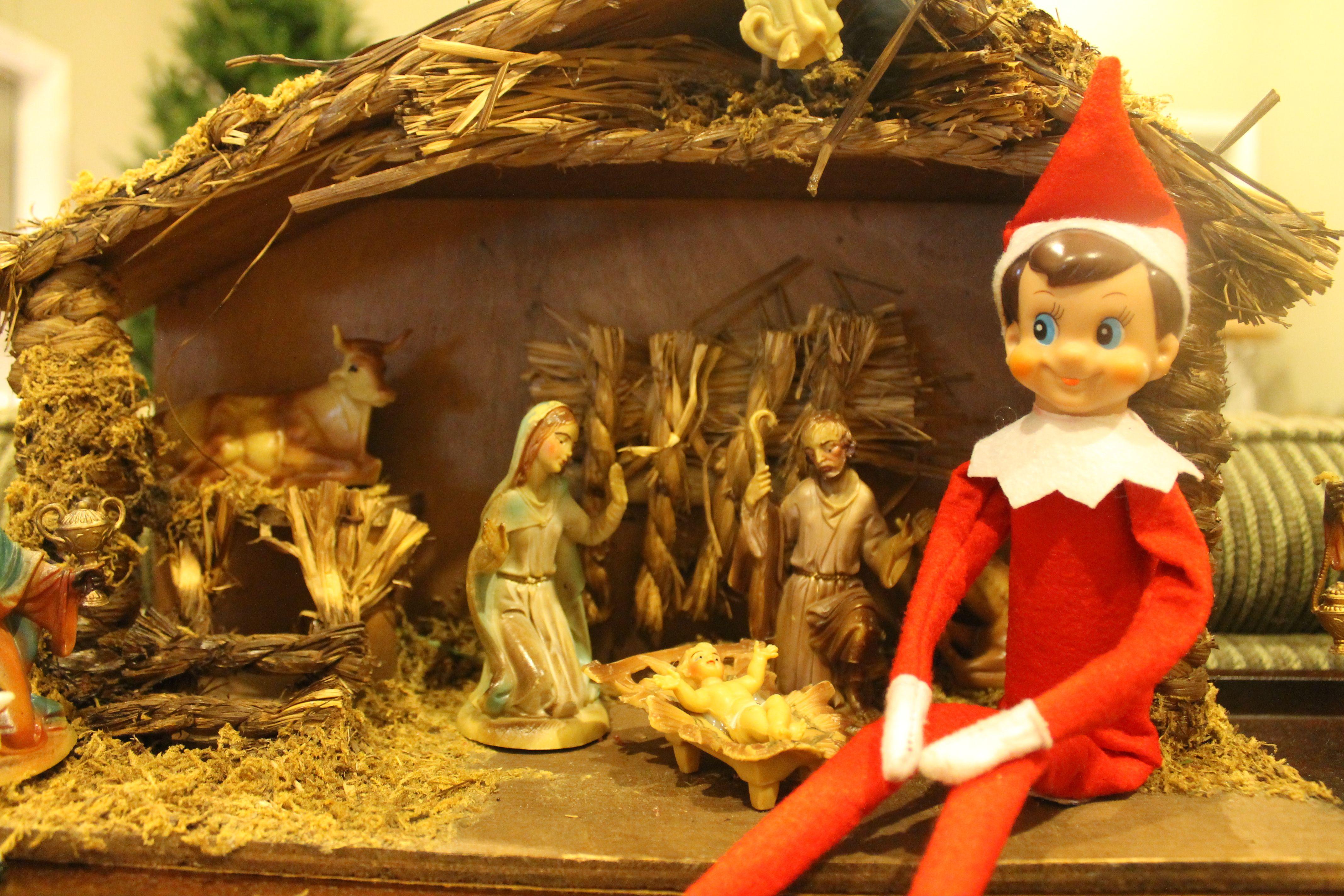 Elf On The Shelf Nativity Elf On The Shelf Elf The Elf
