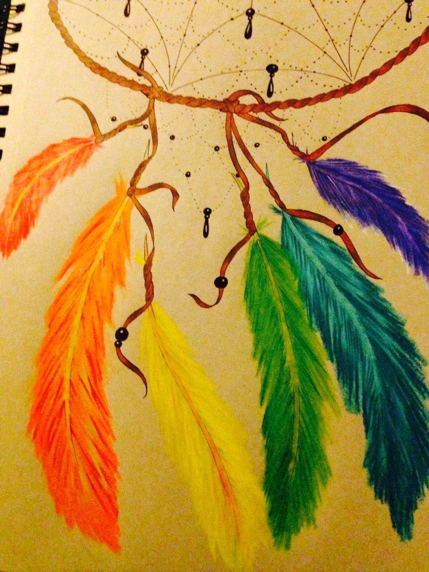 Color art dreamcatcher - Rainbow Dream Catcher Tattoo Design I Dream In Color Courtney Pownall Artist