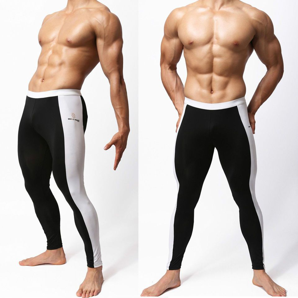 6a55ae7e95 Sexy Men's Compression Under Base Layer Long Sports Fitness Tights Stretch  Pants