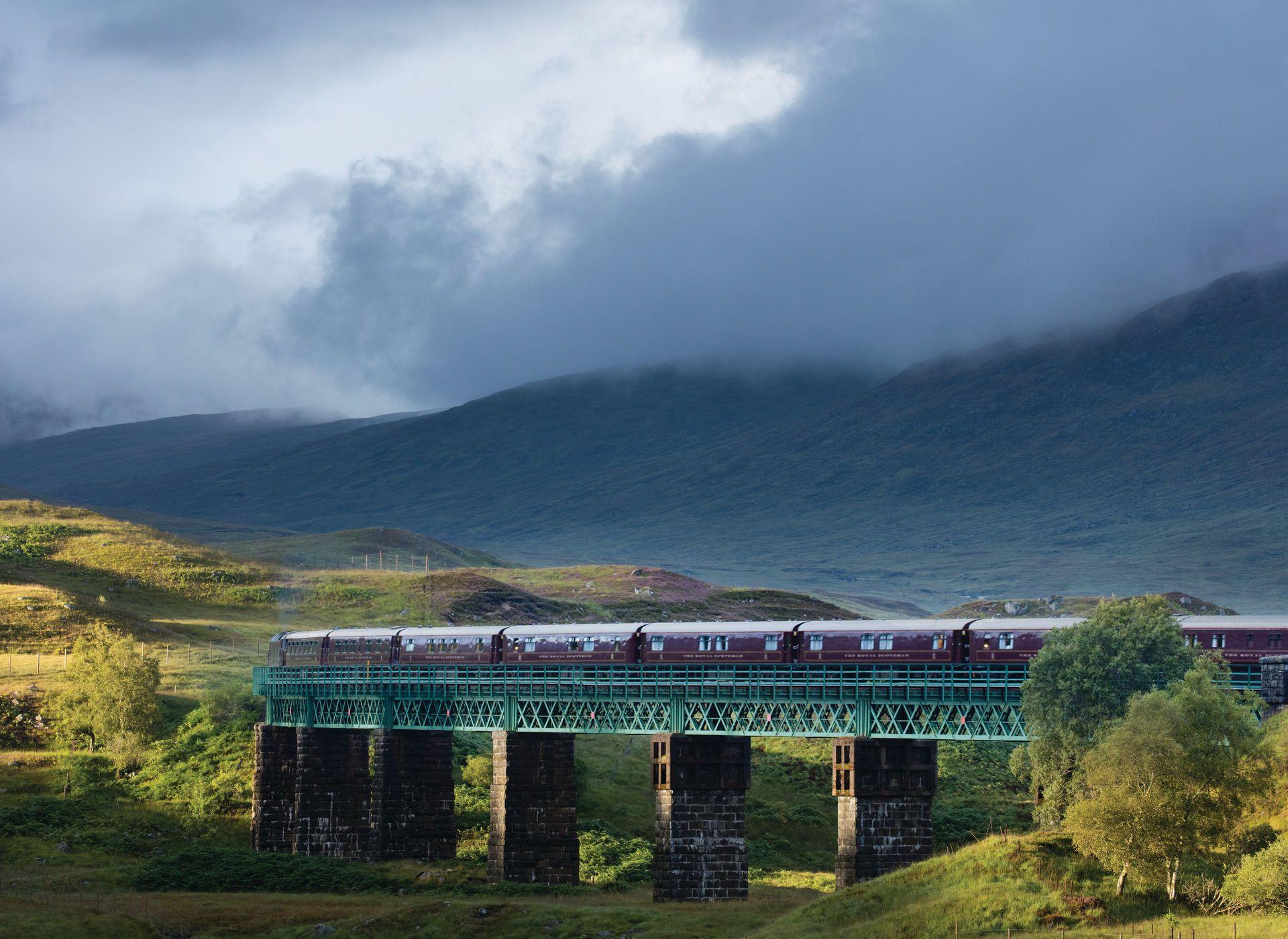 Edinburgh United Kingdom Grass Outdoor Train Sky Highland Track Mountainous Landforms Mountain Transport Atmospheric