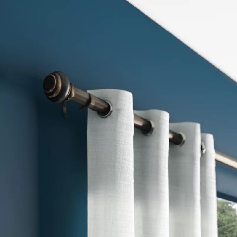 Manderson Single Curtain Rod Single Curtain Rods Curtains Double Rod Curtains
