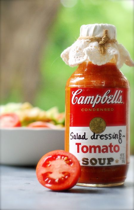 tomato soup blender dressing...tangy and zesty!