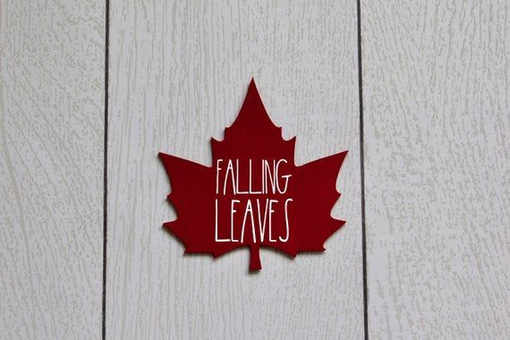 mini fall leaf cut out sign, rae dunn inspired, autumn, hello fall, falling leaves, tiered tray set #hellofall