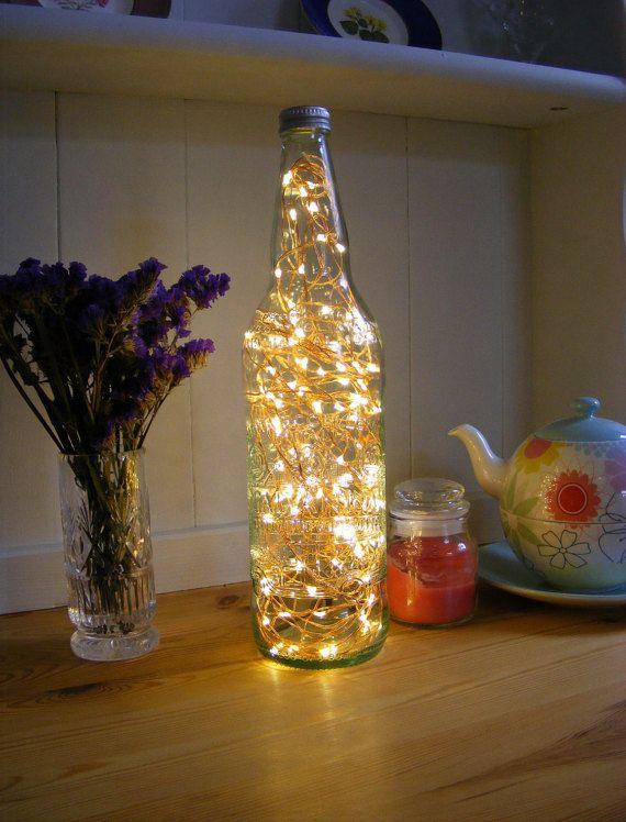 Glass Bottle Lamp Fairy Light Bottle Embossed Bottle Lamp Mains