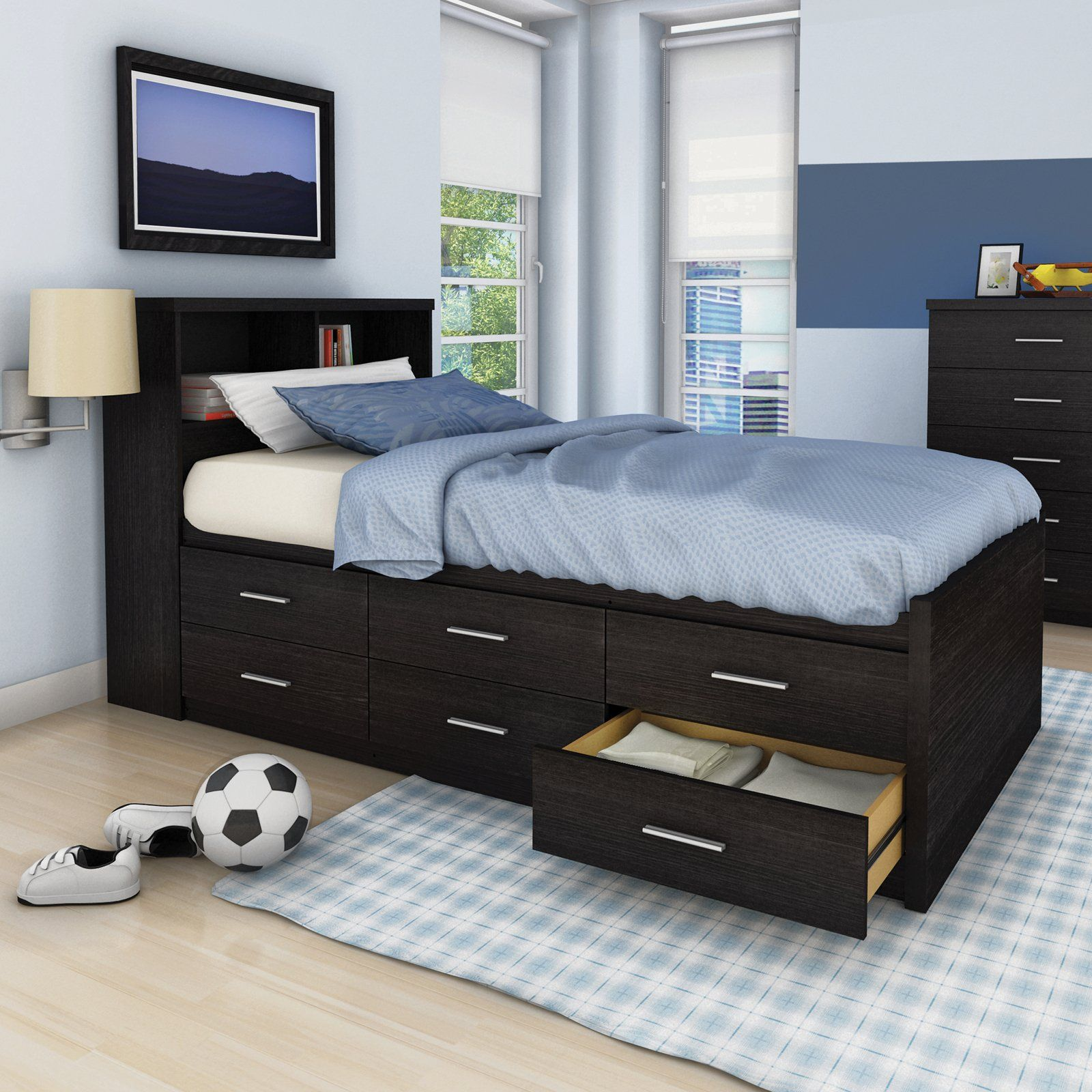Have to have it. Sonax Willow Twin Captains Storage Bed
