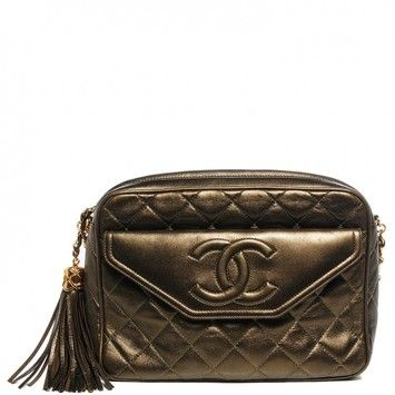 1c84b486a47d Chanel Vintage Lambskin Quilted Tassel Camera Case In Bronze Shoulder Bag.  Get one of the hottest styles of the season! The Chanel Vintage Lambskin  Quilted ...