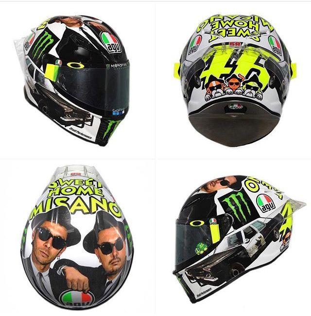 New Helmet Valentino Rossi san MarinoGP +1