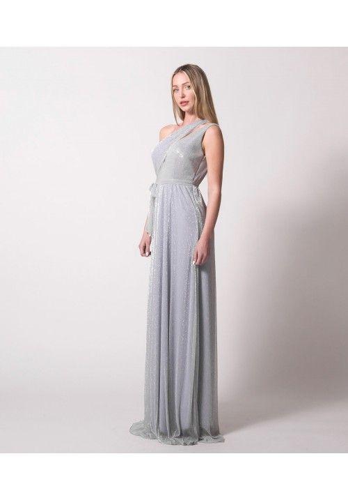 aa6a7395b66b Maxi Φόρεμα Lurex - Ασημί