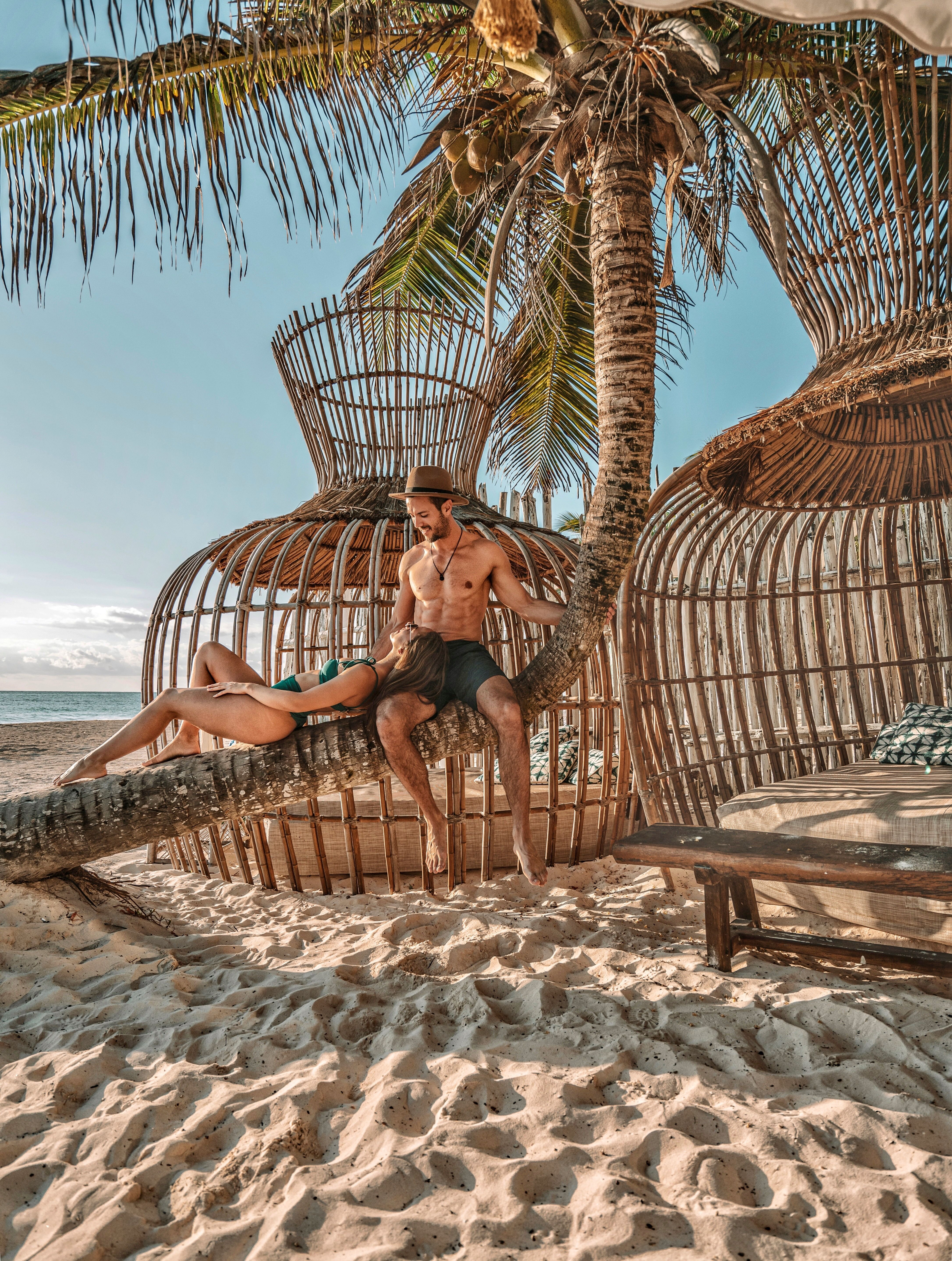 Leaning Palms In Tulum Mexico Tulum Mexico Tulum Travel Travel Aesthetic