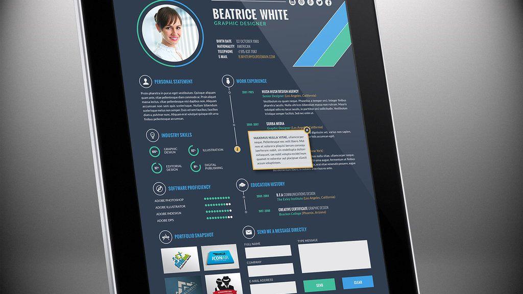 Interactive e ResumeCV Template Vol 1 by sorbamedia