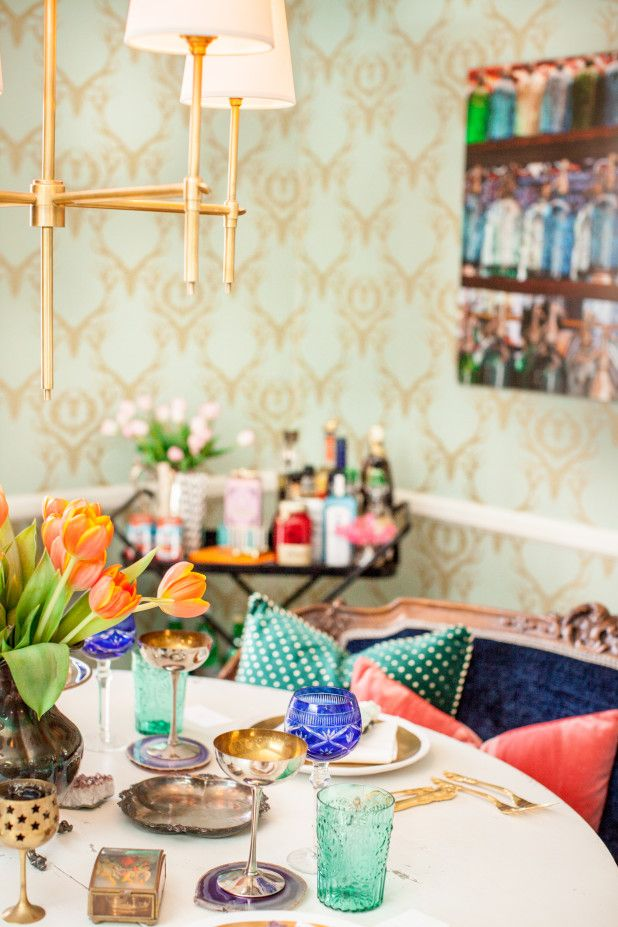 Fun Colorful Dining Room By Kendall Simmons Interiors Nashville TN