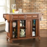 Found it at Wayfair - Newport Kitchen Island with Solid Granite Top in Classic Cherry