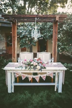 Sweetheart Table at Wedding Reception