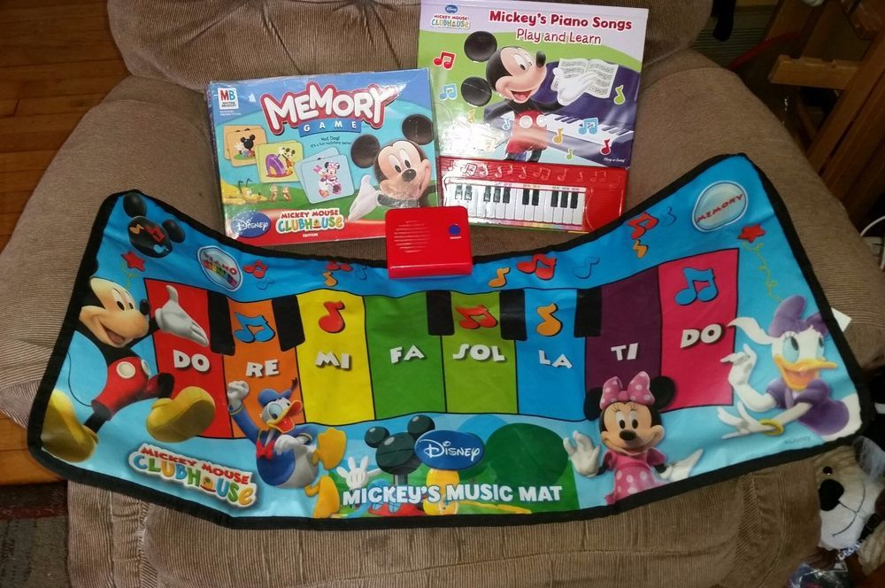 Disney Mickey Mouse Clubhouse Musical Mat Piano Songs Book