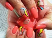 Photo of Abstract Swirls  Nail Art Gallery by NAILS Magazine