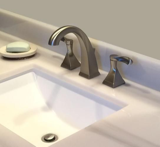 Delta Everly 8 in. Widespread 2-Handle Bathroom Faucet in SpotShield ...