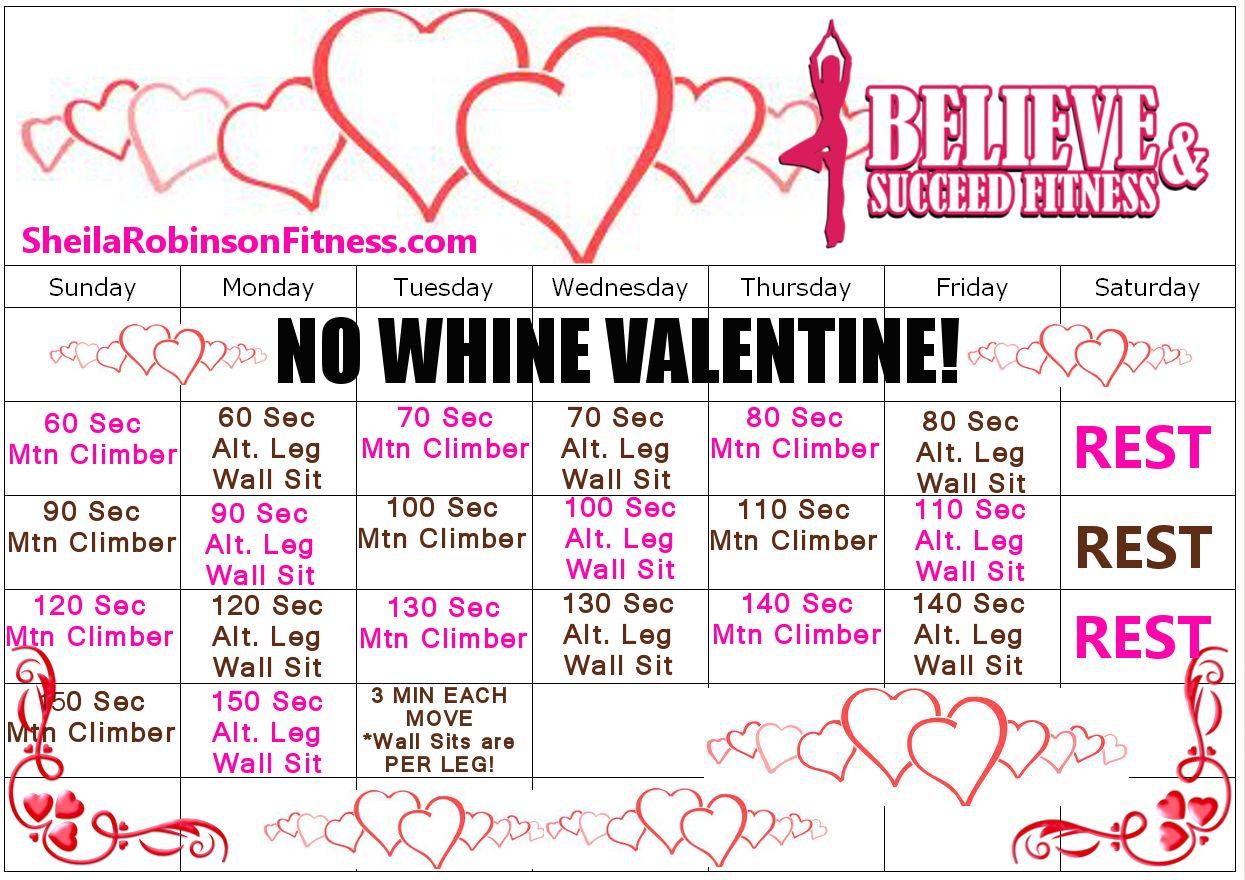 How To Tone Up In A Month: February Fitness Challenge, February Exercise Challenge