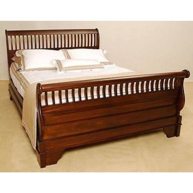 Mahogany Wood Slatted King Sleigh Bed Pre Order Beds Gumtree