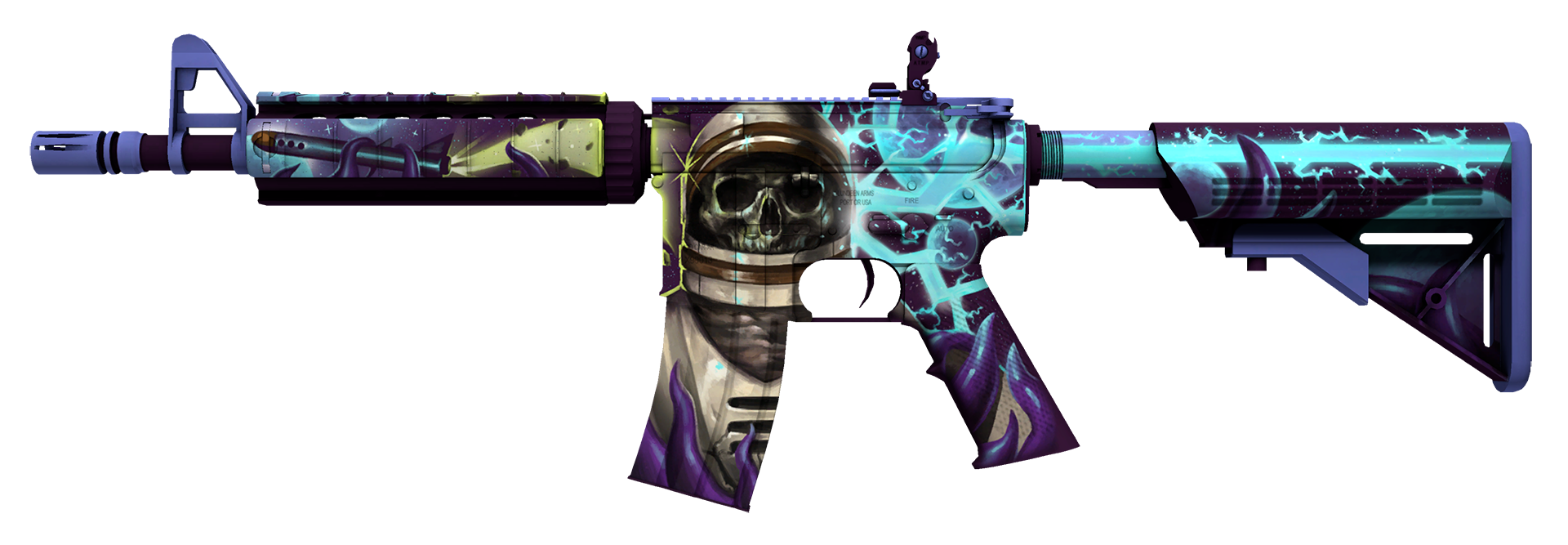 M4A4 Desolate Space Large Rendering | CSGO References | Space