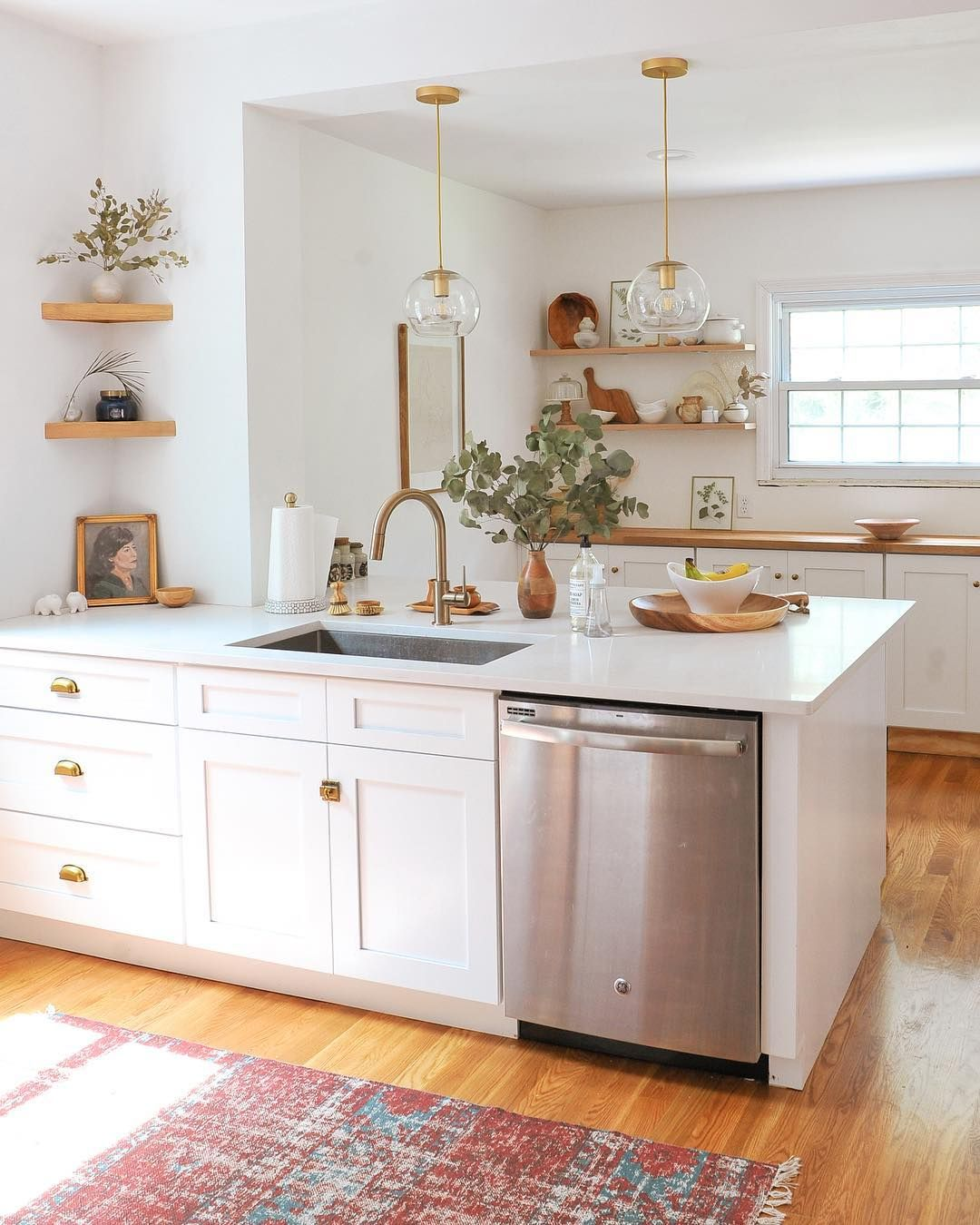 One Kitchen Two Views Swipe To See What This Pittsburgh Kitchen Looks Like From The Other Side White Wood Kitchens Home Decor Kitchen Interior Design Kitchen