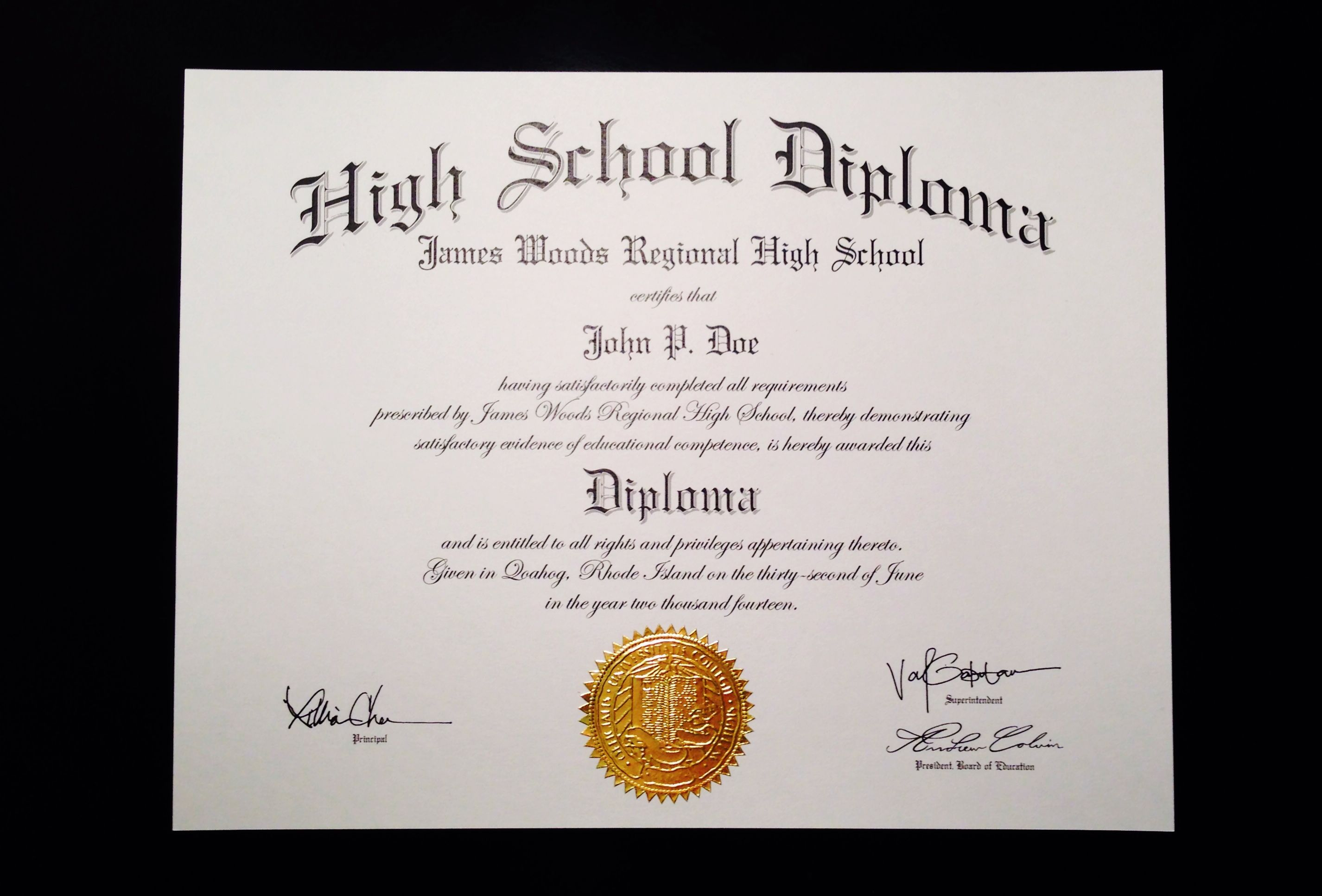 photo relating to Printable Diplomas Templates titled Wrong+Significant+Faculty+Degree+Template Jeffrey D Brammer Absolutely free