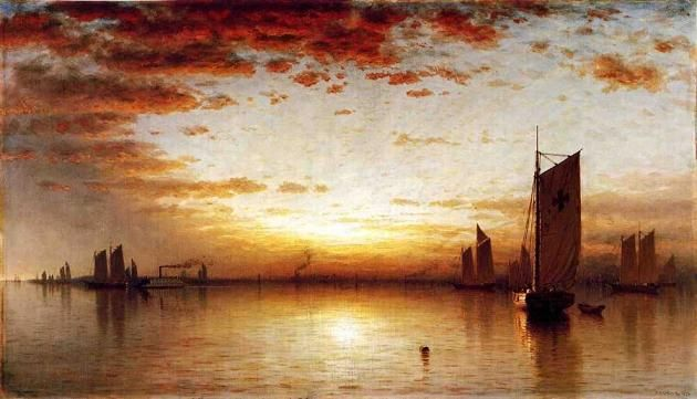 Sunset Paintings By Famous Artists Fine Art Blogger Sunset Painting New York Painting Famous Landscape Paintings
