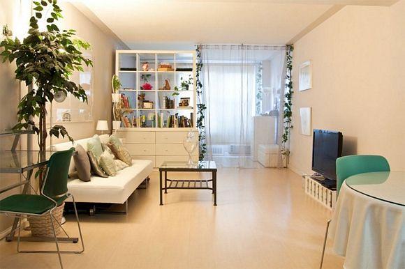 Decoracion para interiores pequenos monoambiente for Cortinas departamentos pequenos