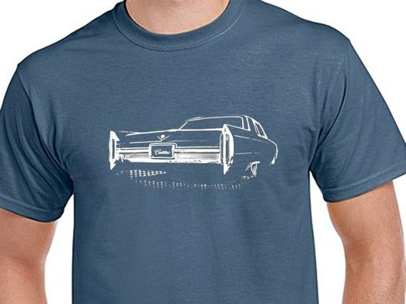 1966 Cadillac, Classic car, lowered, Bagged, Mens Indigo Blue, 100% cotton light weight summer Tshirt